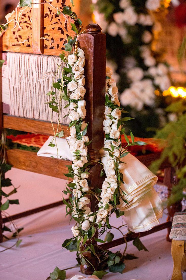 Rinal + Ruchir White Rose Wedding Garlands | Indian Wedding Blog | Think Shaadi