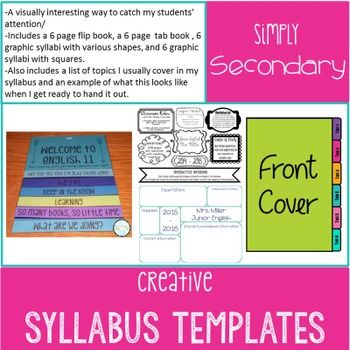 Creative Syllabus Templates Middle School Template D Curriculum