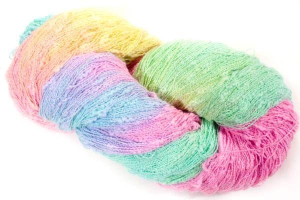 *夢紡ぎ* 手染め糸 コットンファンシー花スラブ 228g かぎ針編み 棒針編み ハンドメイド_画像1