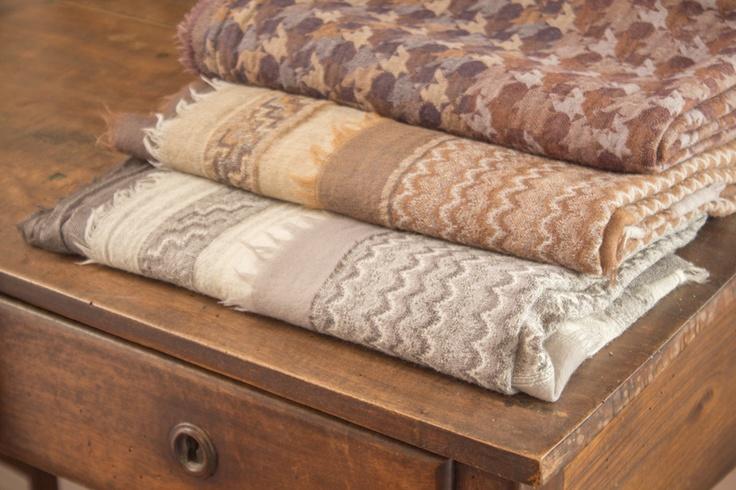 #delcarmen #brown #scarf #wool