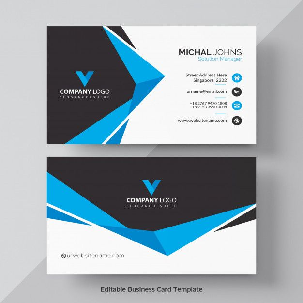Download Blue Elegant Corporate Card Free Vector For Free