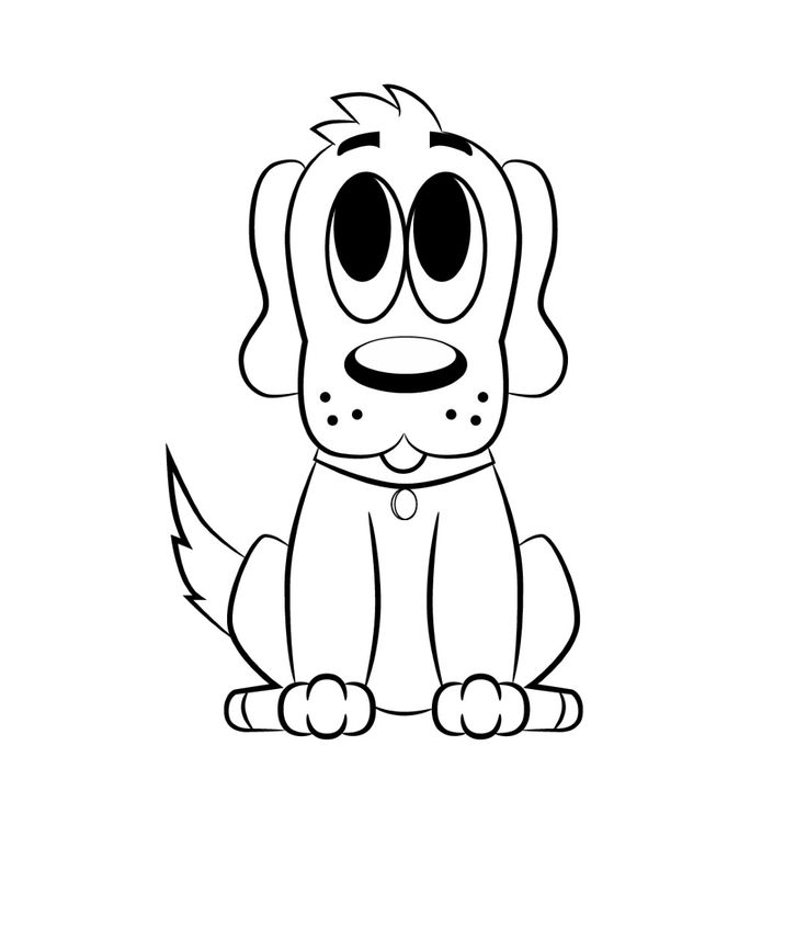how to draw a cartoon puppy step by step easy