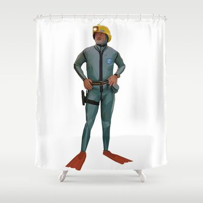 Shower with Bill Murray with this awesome Life Aquatic Shower Curtain