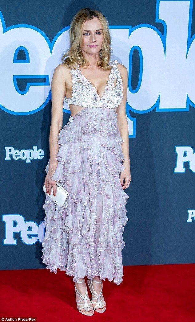 Diane Kruger risks a wardrobe malfunction in dangerously low-cut dress - Celebrity Fashion Trends