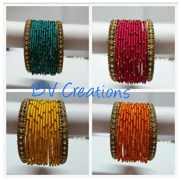 Silk thread jewellery by BV creations For orders whatsapp us on +91 9866855736 #bvcreations #silkthreadjewellery #indianweddingbangles #weddingbangles #bangles #indianwedding