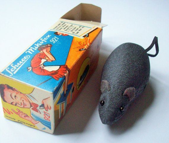 Antique Schuco Wind up Mouse / Vintage Joke / Fake by rustfarm