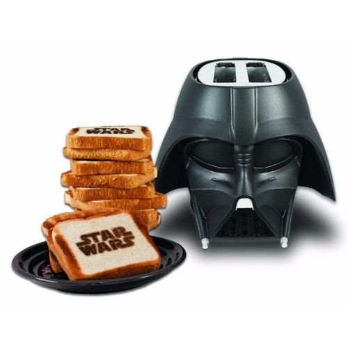 The Star Wars franchise is among the most recognizable brands on earth, with Darth Vader at the helm. Molded in sturdy black plastic and meticulously detailed, the Darth Vader Toaster will make a striking addition to any kitchen counter. Pop in two pieces of bread, frozen pancakes, hamburger buns or English muffins, and in moments …