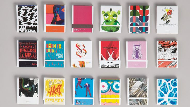 Agency B&A printed examples of its artists' work on matchboxes
