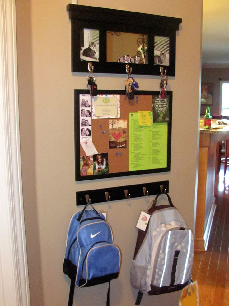Want to do this for kids backpacks in entryway