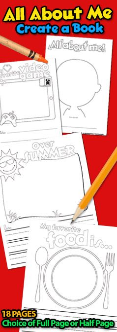 All About Me - Create a Book Back to School Classroom Activity Idea Getting to know your student for Teachers