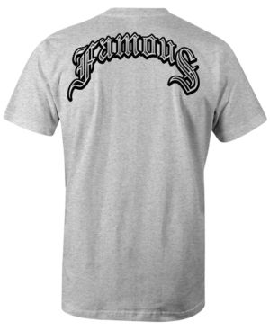 Famous Stars and Straps Men's Creeper Cotton Graphic-Print T-Shirt  - Gray 2XL