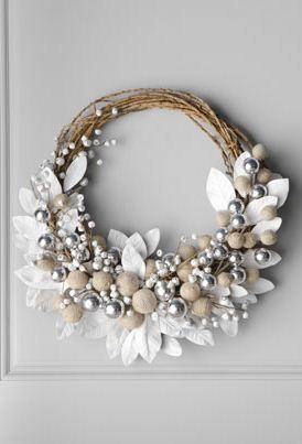 Image result for whimsical christmas decorations white