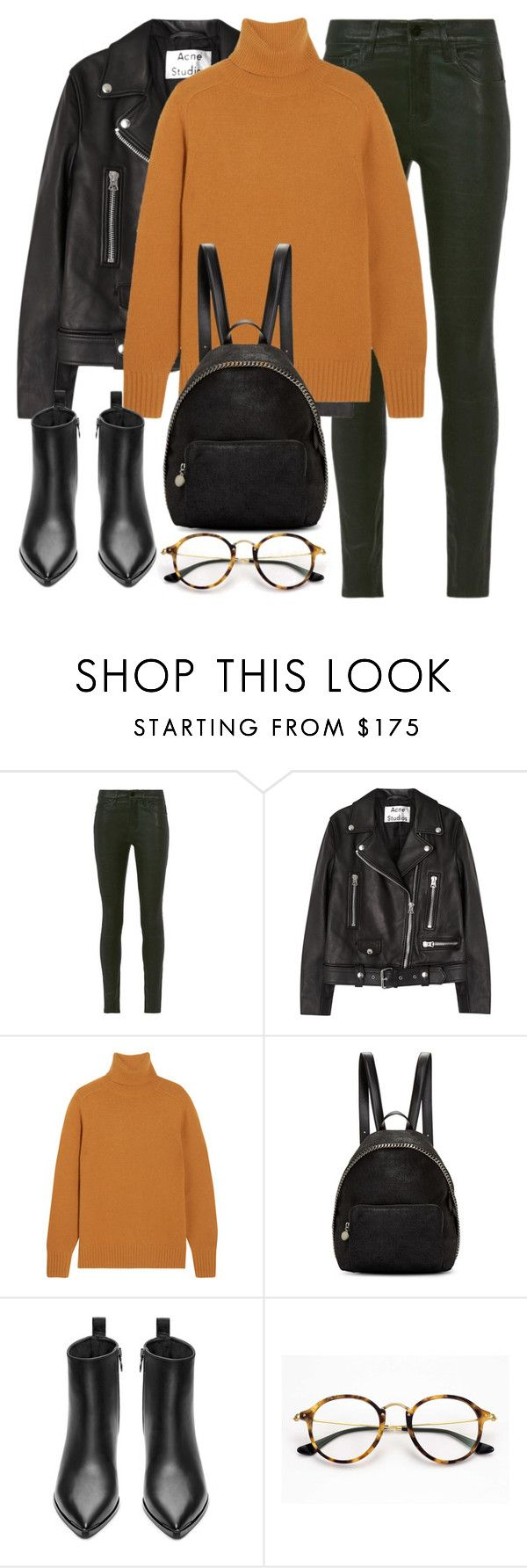 """""""Untitled #2921"""" by elenaday ❤ liked on Polyvore featuring Frame Denim, Acne Studios, Chloé, STELLA McCARTNEY and Ray-Ban"""