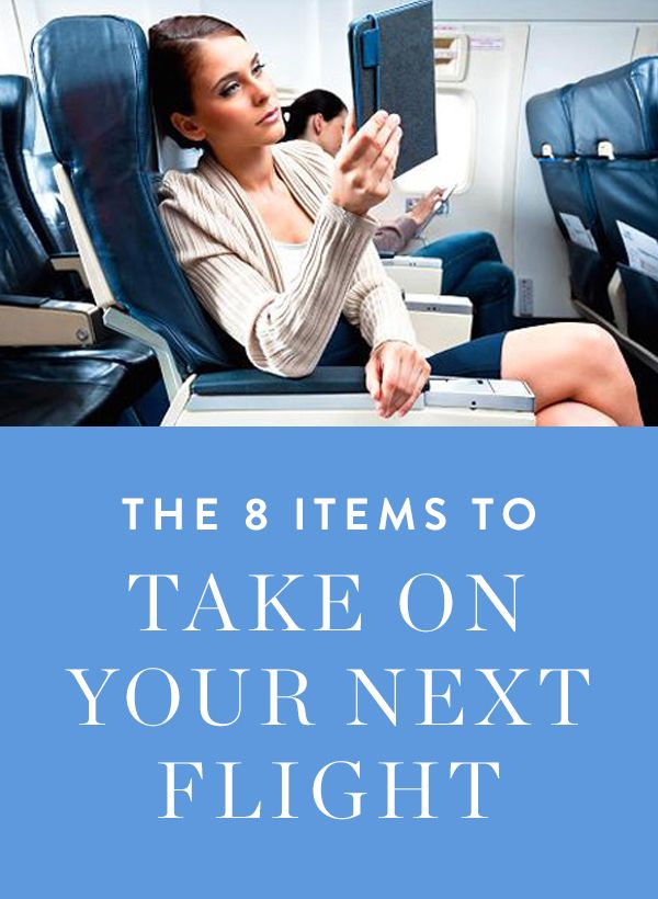 Eight must-have items to bring on your next flight via @PureWow
