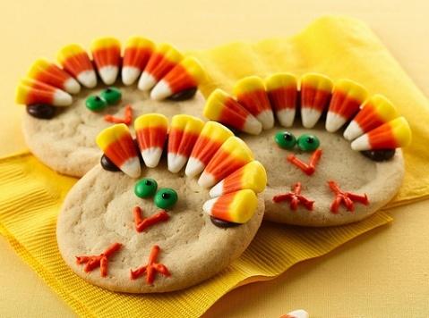 Cute little turkey cookies for my little turkeys to make!