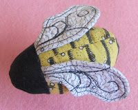 Peck's Pieces: My Swarm of Bees free patterns for pincushion and needlebooks and more