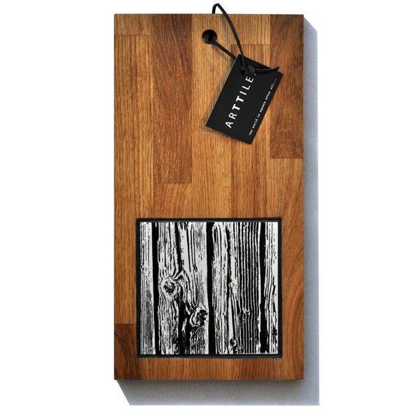 Egetræsbræt - Wannabe Wood (sort)