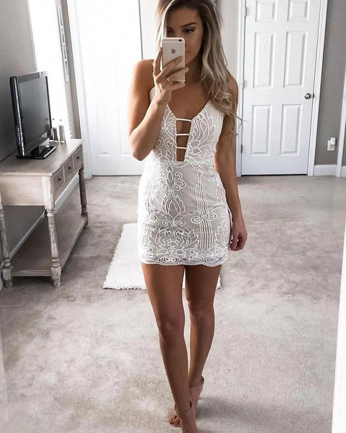 cut out party dresses short tight