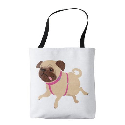 Pug patterned bag tote bag
