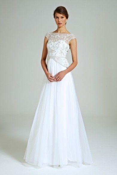 Collette Dinnigan Fairy Sequins Beaded Bodice Gown