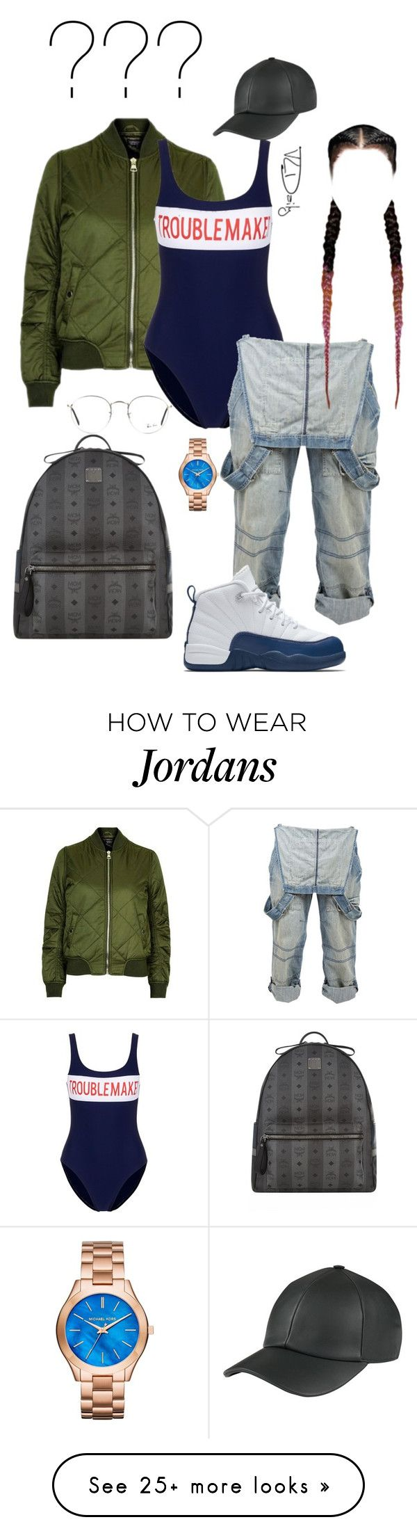 """"""""""" by sherie-lover on Polyvore featuring Topshop, Zoe Karssen, Crafted, NIKE, MCM, Michael Kors and Ray-Ban"""