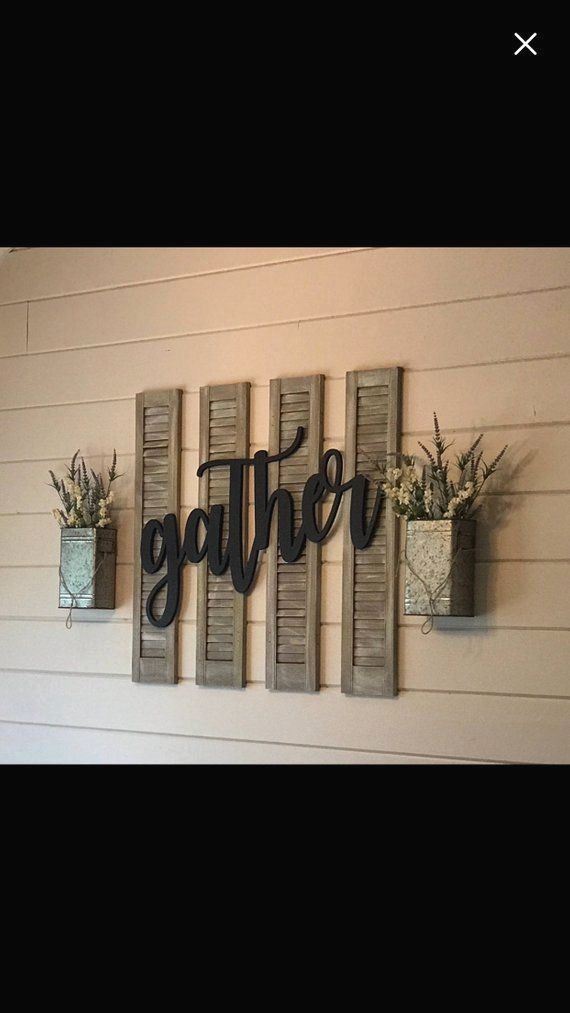 Large Southern Farmhouse Chic Gather Sign (You Pick The Color), Rustic Farmhouse Chic, Wooden Letters, Home Decor, Wooden Phrase, Shelf Sign