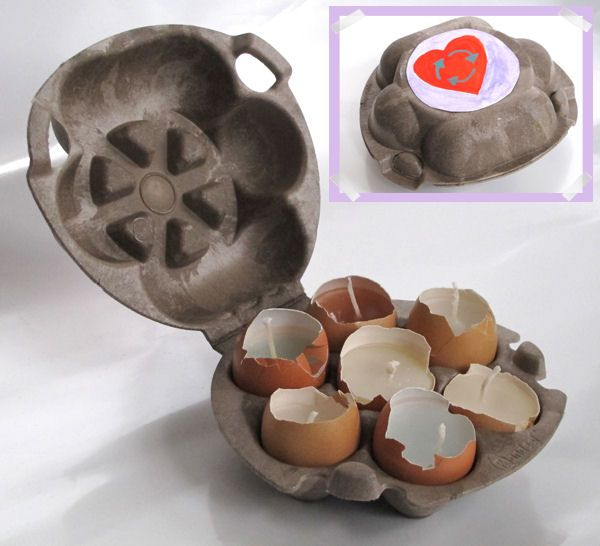 Recycled ostara Candles!  in diy accessories  with Recycled Eggshell eggs egg box easter Candle