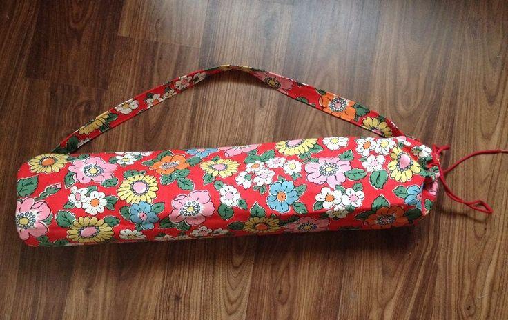 Cath Kidston Handmade Yoga Sport Mat Carrier Bag Tote Camden Red