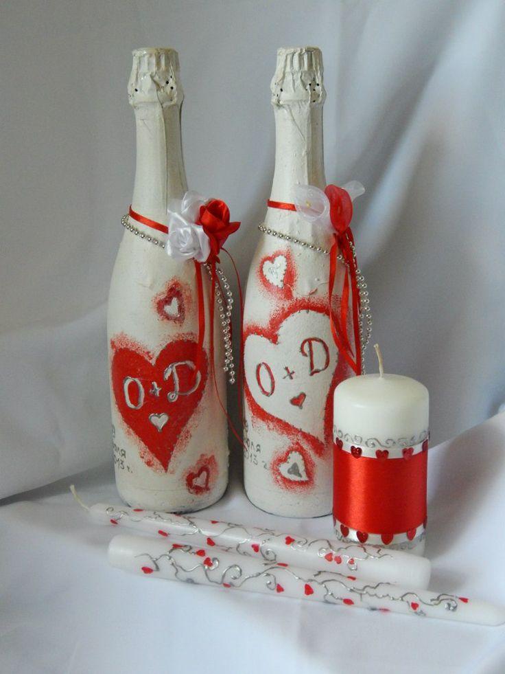 свадебные свечи и шампанское