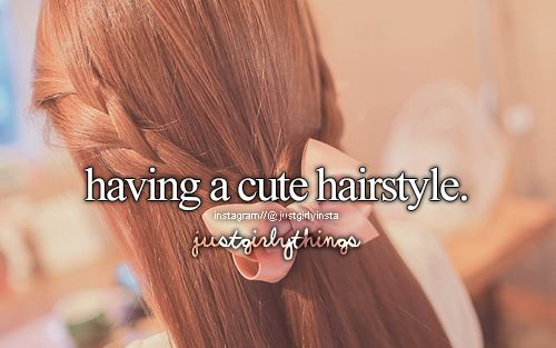 Just Girly Things Quotes: Bow & Long Hair & Ginger Hair & Quote