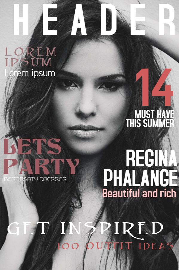 Beauty Magazine Cover Design Social Media Template Magazine Cover Template Magazine Cover Fashion Magazine Cover