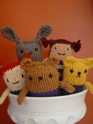 Anything Animals -- free pattern from Petite Purls. SO CUTE!! #knitting #dolls #free_pattern