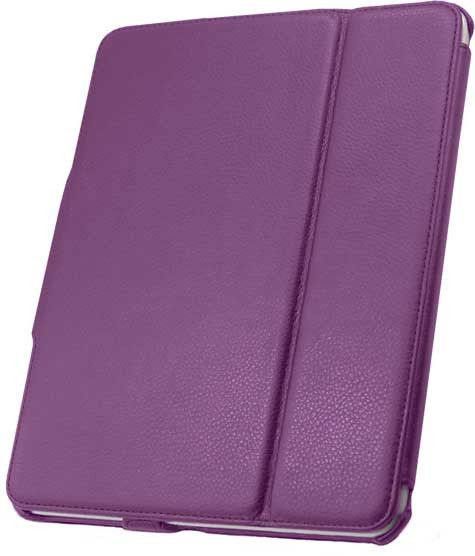 Leather Flip Book Case/Folio for Apple iPad (1st Generation) (Purple)