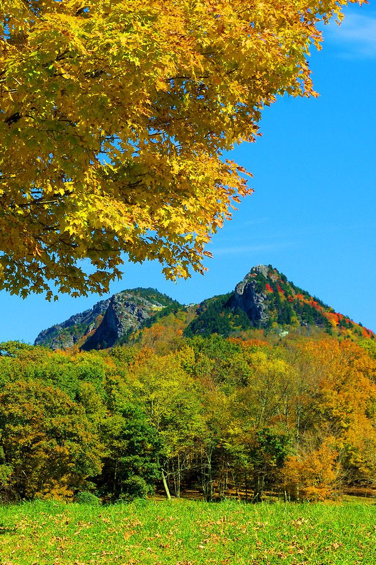 Grandfather Mountain in North Carolina with fall color