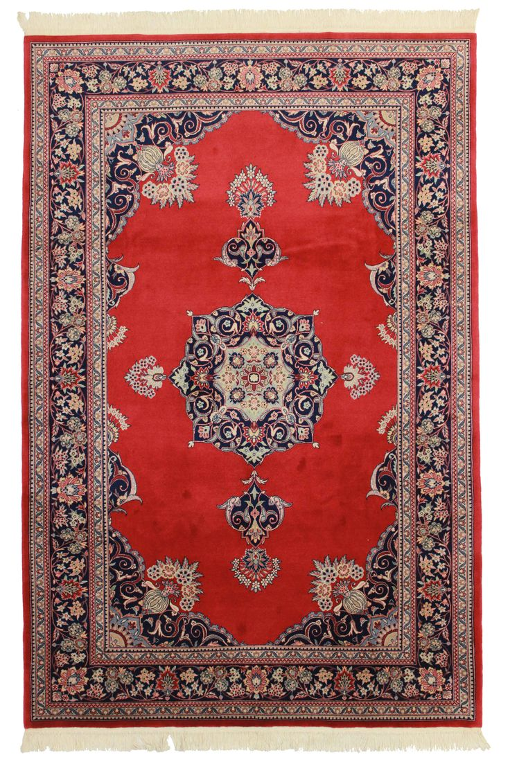 6' X 9' Hand Knotted Wool Chinese Rug