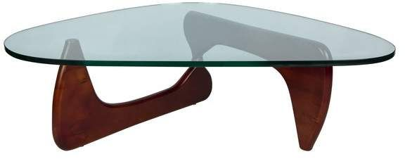 Leisuremod Leisuremod Imperial Modern Glass Top Wooden Base