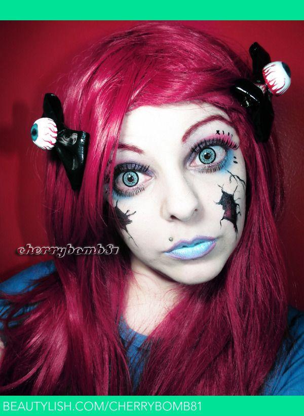 Halloween Makeup Look Broken Doll | Cherry C.'s (cherrybomb81) Photo | Beautylish