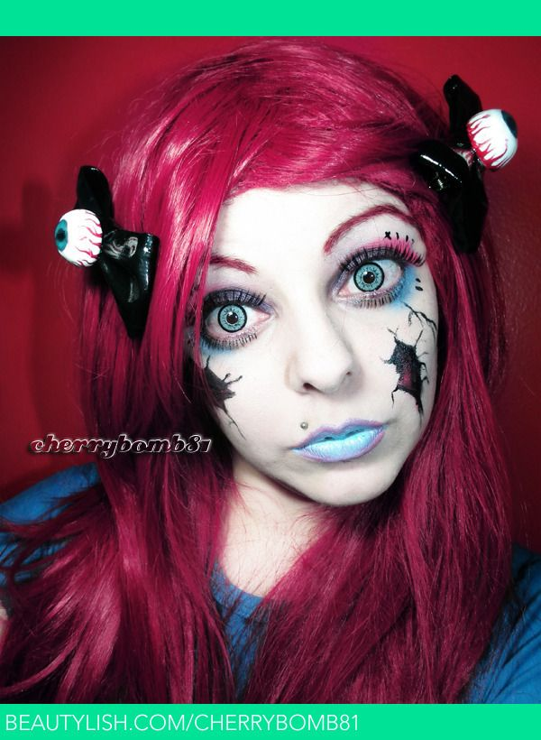 Halloween Makeup Look Broken Doll | Cherry C.'s (cherrybomb81) Photo | Beautylish