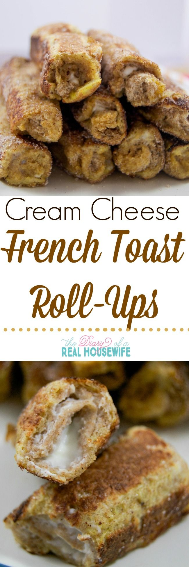 Cream Cheese French Toast Roll-ups. Such a great breakfast idea.