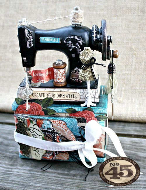 Couture-Altered-Sewing-Machine-and-Mini-Album-Graphic-45-Miranda-Edney-1-of-8  http://g45papers.typepad.com/graphic45/2014/07/classy-couture-creations-1.html