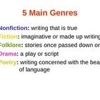 fiction genres year 6 homework