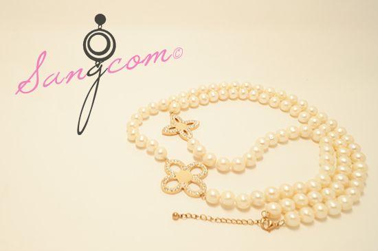 vancl★★★ st 진주 목걸이 모조진주가 아닌 양식진주로 모조품이 낼 수 없는 은은한 빛깔을 가지고 있는 목걸이예요. #상콤#sangcom#목걸이#necklace#명품스타일