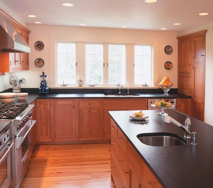 Kitchen With Light Maple Cabinets And Dark Countertops: Kitchen Ideas, My House And For The Home