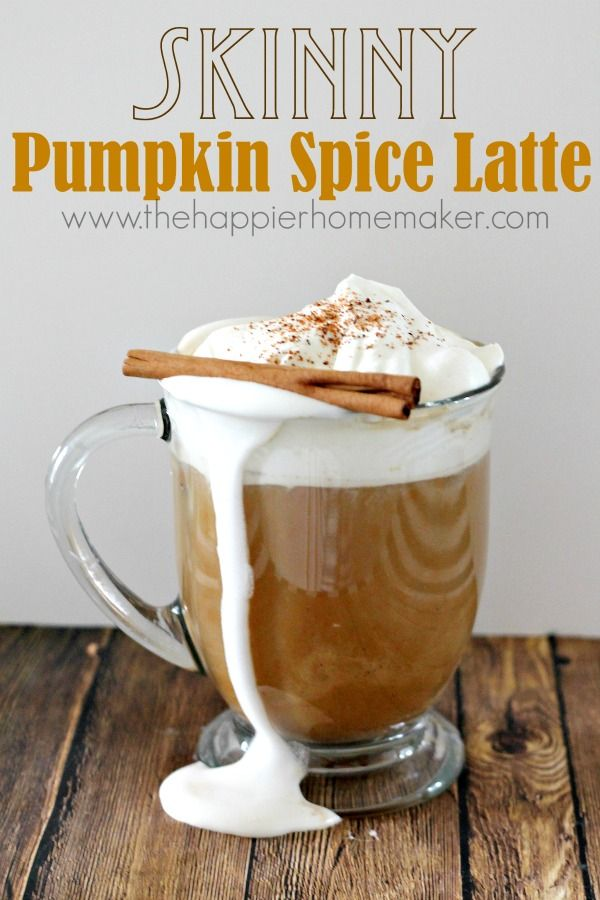 This is soooo good!! (And way cheaper and healthier!) Starbucks Inspired Skinny Pumpkin Spice Latte Recipe