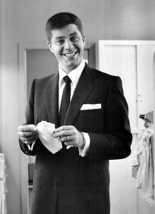 Jerry Lewis ~ I know it's not cool to admit it, but I think he was really funny back in the day...