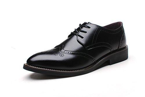 Oferta: 32€. Comprar Ofertas de Shenn Estilo Británico Hombres Moda Oxfords Negro Brogue Vestir LosZapatos de Cuero 856 EU43 barato. ¡Mira las ofertas!