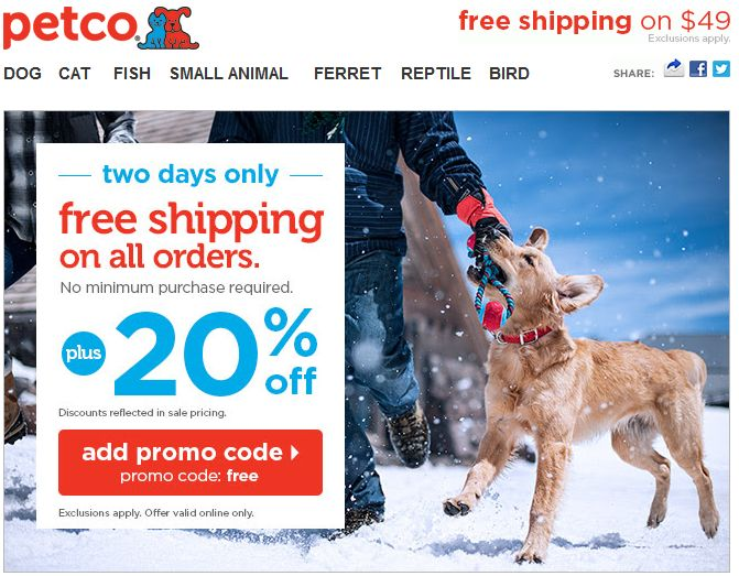 Free shipping has been available at exsanew-49rs8091.ga for 30 of the last 30 days. Petco has offered a sitewide coupon (good for all transactions) for 30 of the last 30 days. As coupon experts in business since , the best coupon we have seen at exsanew-49rs8091.ga was for 70% off in January of