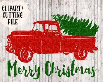 SVG SALE 5 Christmas Truck svg Old Truck by KellyLollarDesigns