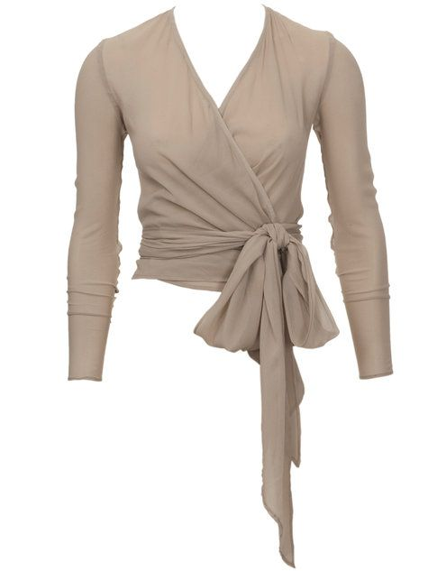 Lovely wrap top, just right for going out in.