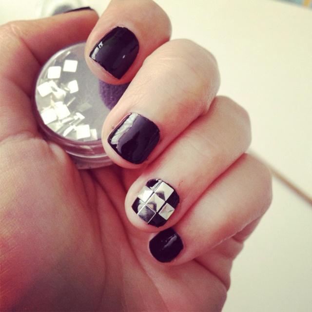 Metal black nails: Metals Black, Black Nails